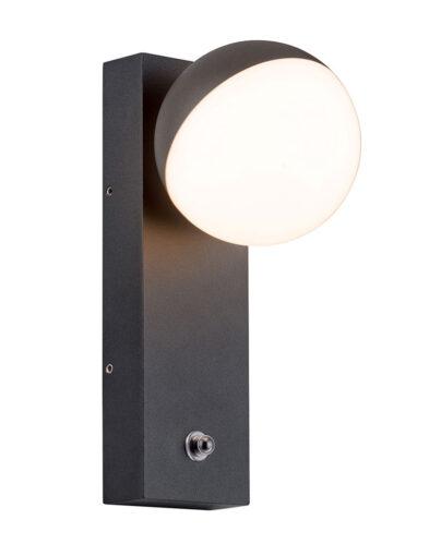 Außenwandbeleuchtung Kugel schwarz-2727ZW