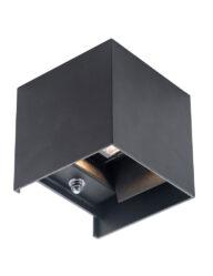 Außenwandleuchte Viereck schwarz-2728ZW