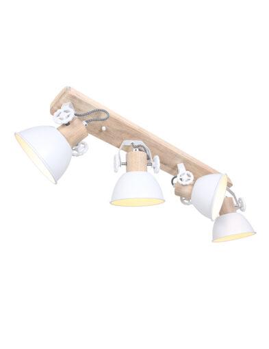 Skandinavische Deckenleuchte Holz und weiß-2729W