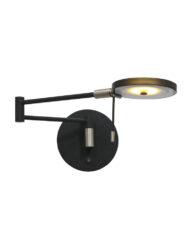 Verstellbare Wandleuchte modern schwarz-2734ZW