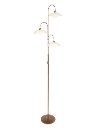 Stehleuchte mit Glaslampenschirmen bronze-2744BR