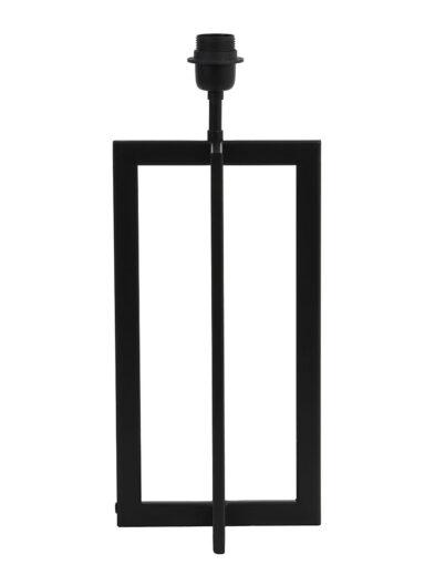 Gradliniger Lampenfuß schwarz-2776ZW