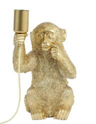 Tischleuchte Affe gold-2788GO