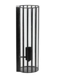 Längliche Wandlampe mit Glas schwarz-2822ZW