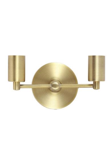 Zweiflammige Wandlampe Messing-2824GO