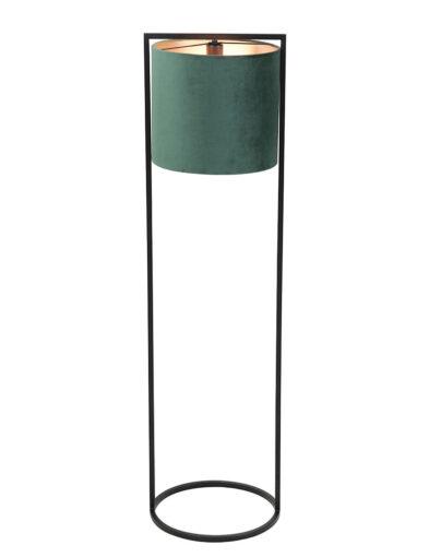 Schicke Stehlampe grün & schwarz-2828G
