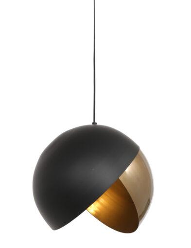 Stimmungsvolle Hängeleuchte schwarz gold-2842GO