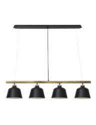 Esszimmerlampe industriell schwarz-2845ZW