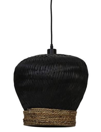 Geflochtene Hängeleuchte schwarz-2856ZW