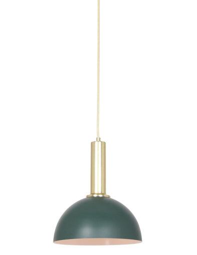 Retro Pendelleuchte grün mit gold-2861ZW