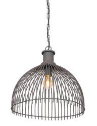 Halbrunde Drahthängelampe grau-2864GR