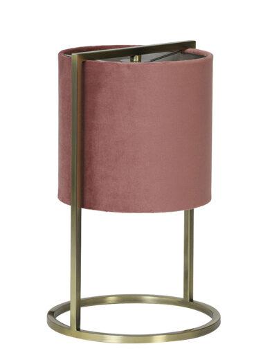 Kleine Tischleuchte Samt rosa-2897RZ