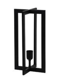 Viereckige Tischlampe schwarz-2911ZW