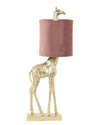 Tischlampe Giraffe rosa-2923GO