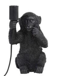 Tischlampe Affe schwarz-2927ZW
