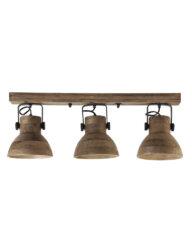 Deckenstrahler aus Holz braun-2939B