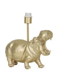 Tischleuchte Nilpferd gold-2967GO