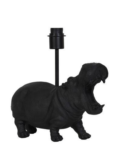 Tischleuchte Nilpferd schwarz-2973ZW