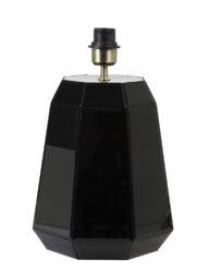 Lampenfuß eckig schwarz-2980ZW