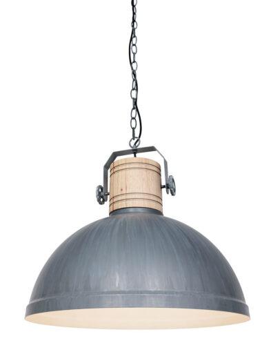 Pendelleuchte industrielles Design grau-3000GR
