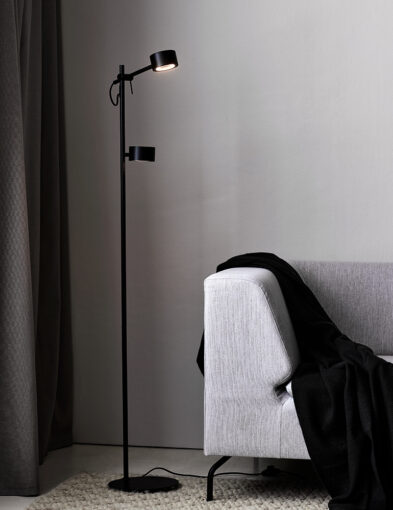 Stehleuchte zweiflammig LED schwarz-3004ZW