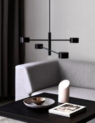 Moderne Hängeleuchte LED schwarz-3005ZW