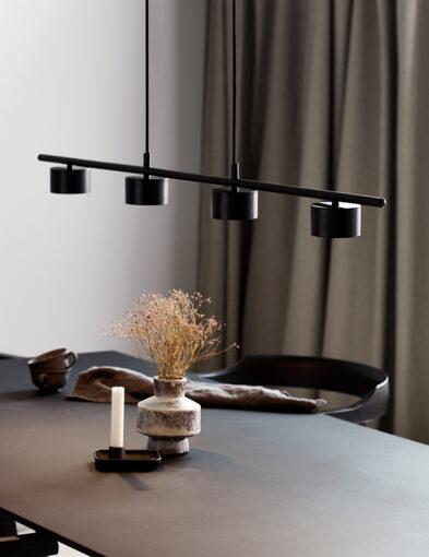 Esszimmerleuchte modern LED schwarz-3006ZW