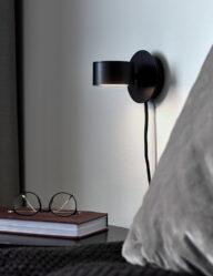 Runde Design Wandleuchte schwarz-3007ZW