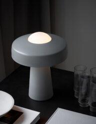 Design Tischleuchte grau-3010GR
