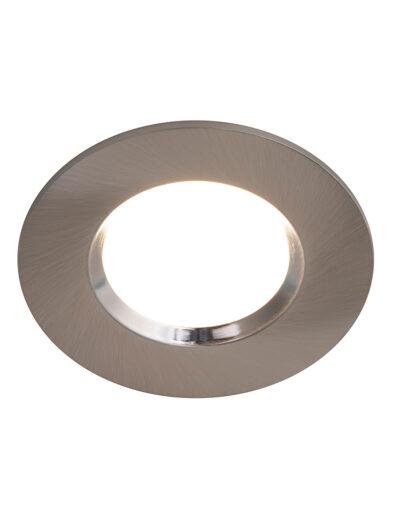 Runder LED Einbauspot Badezimmer Stahl-3031ST