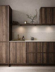 Drei runde Einbaustrahler Küche schwarz-3039ZW