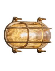 Bintage Schifffahrtslampe außen gold-3046ME