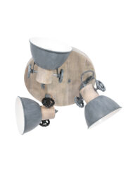 Industrielle Deckenleuchte grau-3063GR