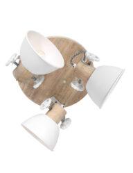 Dreiflammige Deckenleuchte weiß-3063W