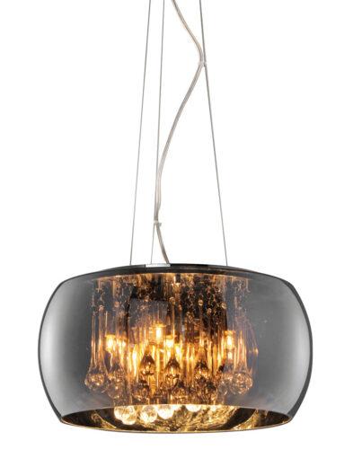 Pendelleuchte mit besonderem Design Rauchglas-3144CH