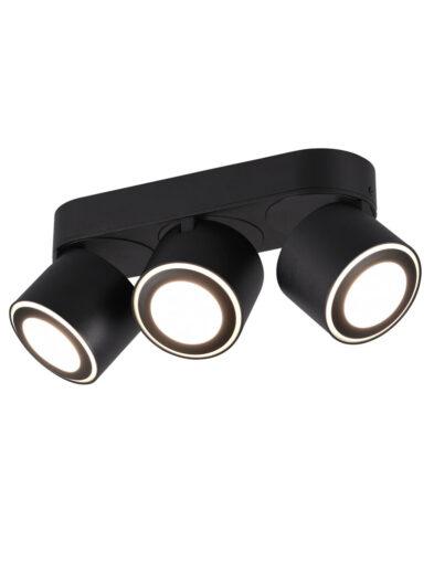 Deckenleuchte mit 3 Spots verstellbar schwarz-3169ZW