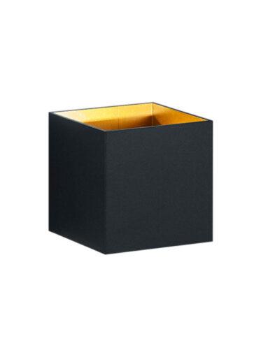 Moderne viereckige Wandleuchte schwarz-3173ZW