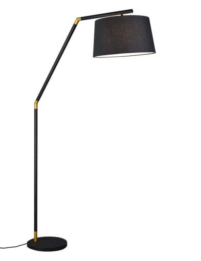 Moderne Stehleuchte goldene Details schwarz-3178ZW