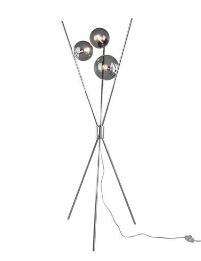 Stativ Stehleuchte Glaskugeln Chrom-3180CH