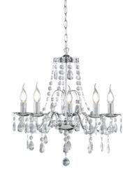 Eleganter Kronleuchter mit Kristallen Chrom-3197CH
