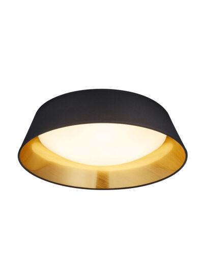 Moderne Deckenleuchte schwarz gold-3202ZW