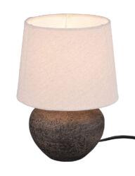 Tischlampe im ländlichen Stil braun-3212B
