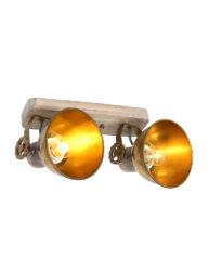 Trendy 2-flammige Deckenleuchte bronze-7969BR