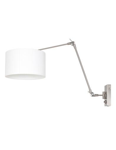Wandleuchte mit Lampenschirm aus Leinen Stahl-8108ST