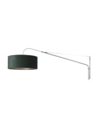 Ausziehbare Wandleuchte Stahl und grün-8130ST