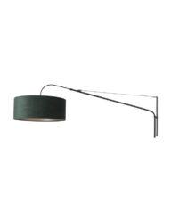 Schicke verstellbare Wandleuchte Stahl grün-8133ZW