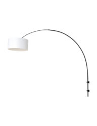 Schwarze Bogenwandlampe schwarz-8136ZW
