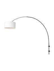 Wandbogenleuchte Lampenschirm aus Leinen schwarz-8138ZW