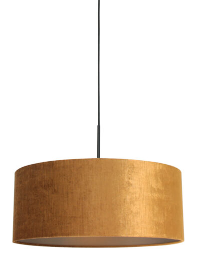 Pendelleuchte goldener Schirm schwarz-8158ZW