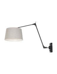 Wandleuchte brauner Schirm schwarz-8188ZW